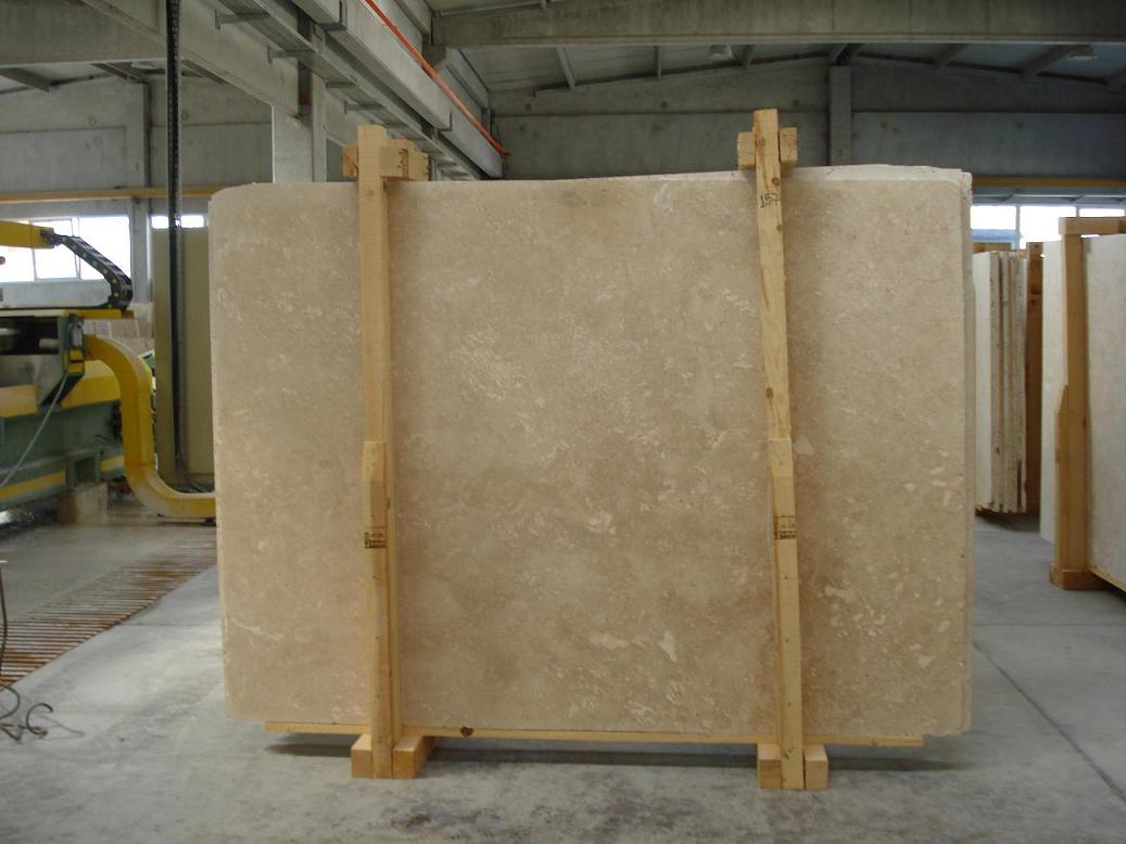 Light Travertine Slab