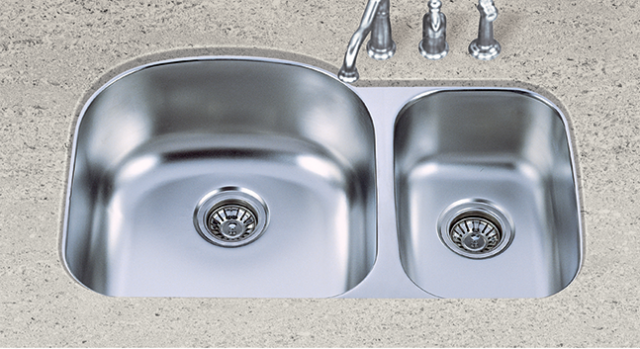 S602L Stainless Steel 60/40 Sink