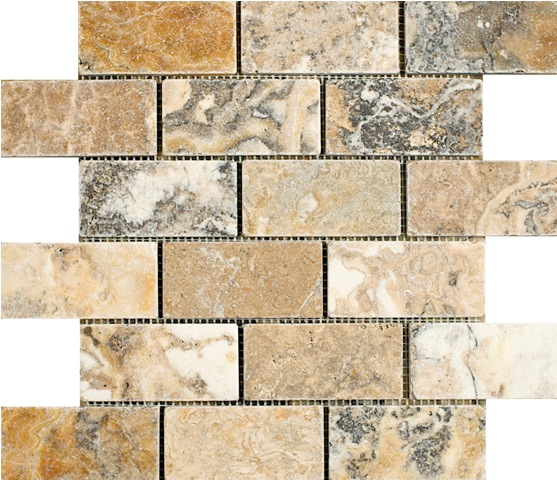 Antico Travertine Mosaic 2x4