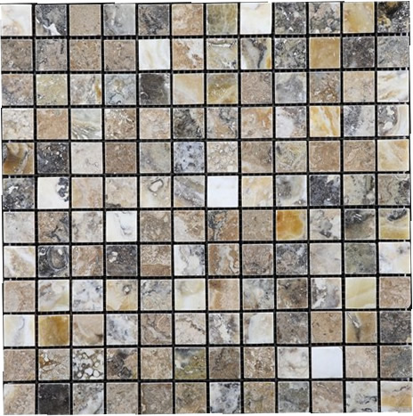 Antico Travertine / Onyx Mosaic 1x1
