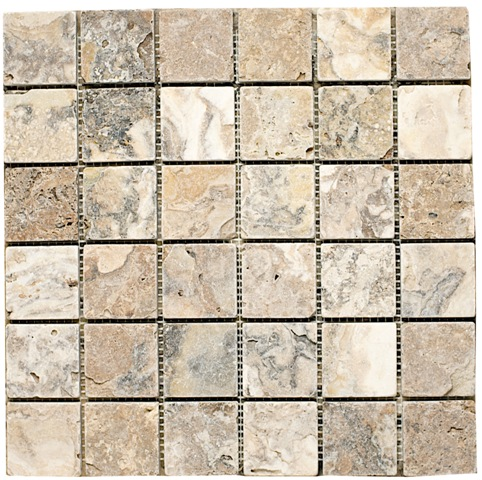 Antico Travertine Mosaic 2x2
