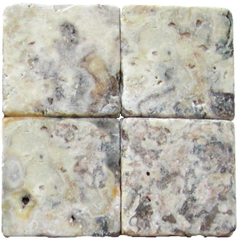 Antico Tumbled Travertine / Onyx 6x6