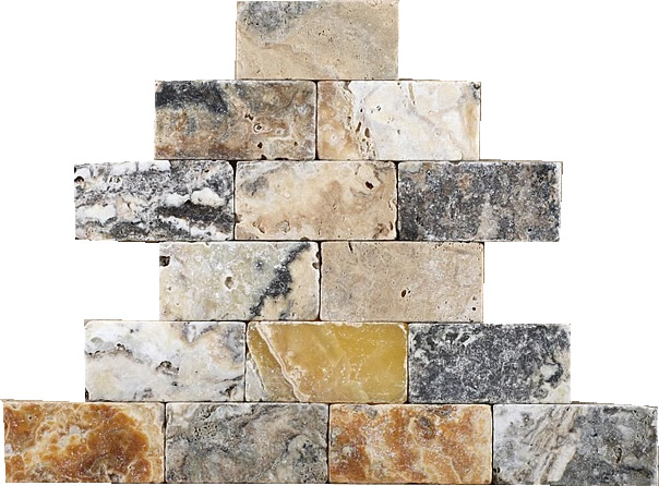 Antico Tumbled Travertine / Onyx 3x6