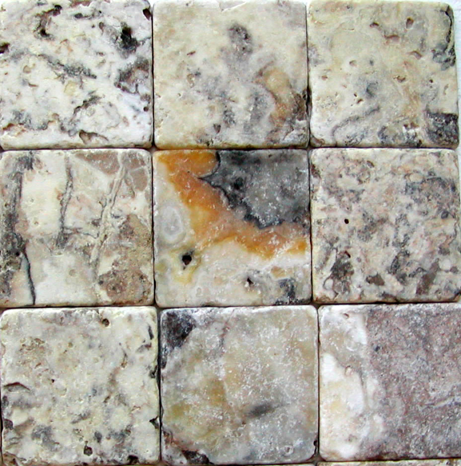 Antico Tumbled Travertine / Onyx 4x4