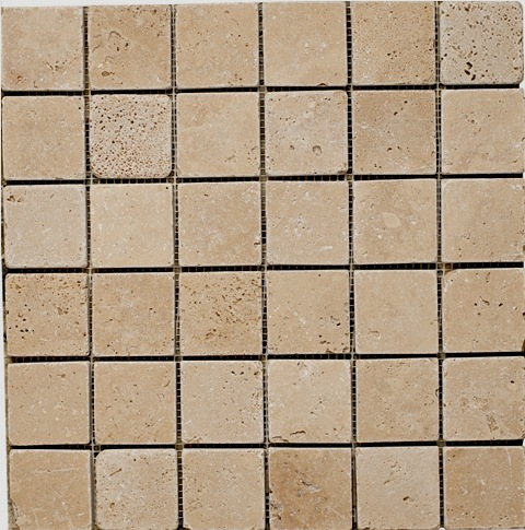 Classic Travertine Mosaic 2x2