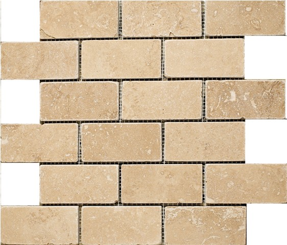 Classic Travertine Mosaic 2x4