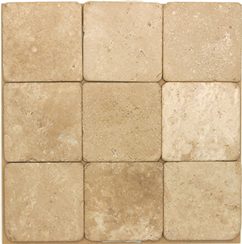Classic Travertine Tumbled 4x4