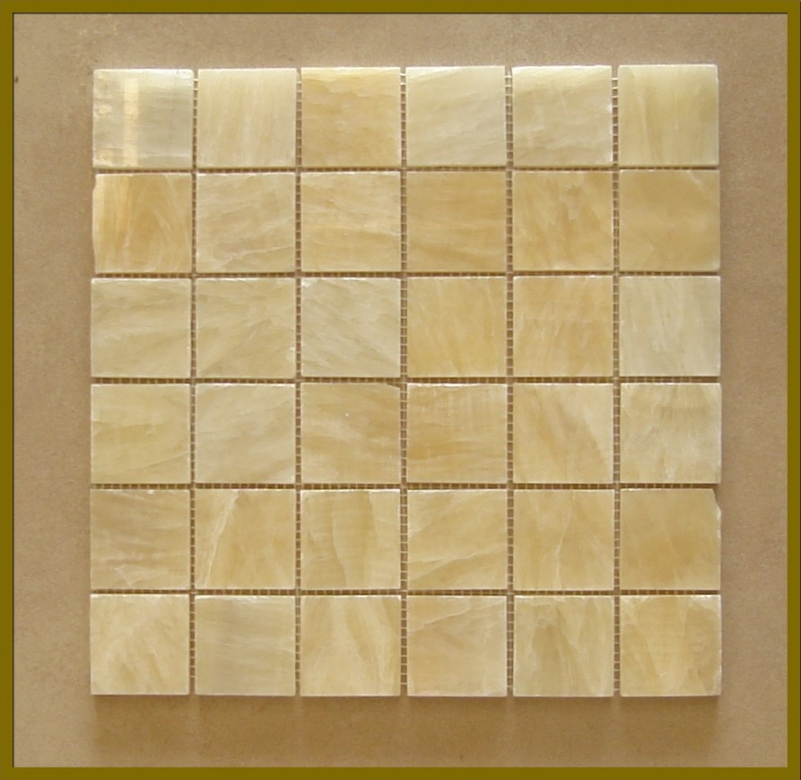 2x2 Honey Onyx Mosaic