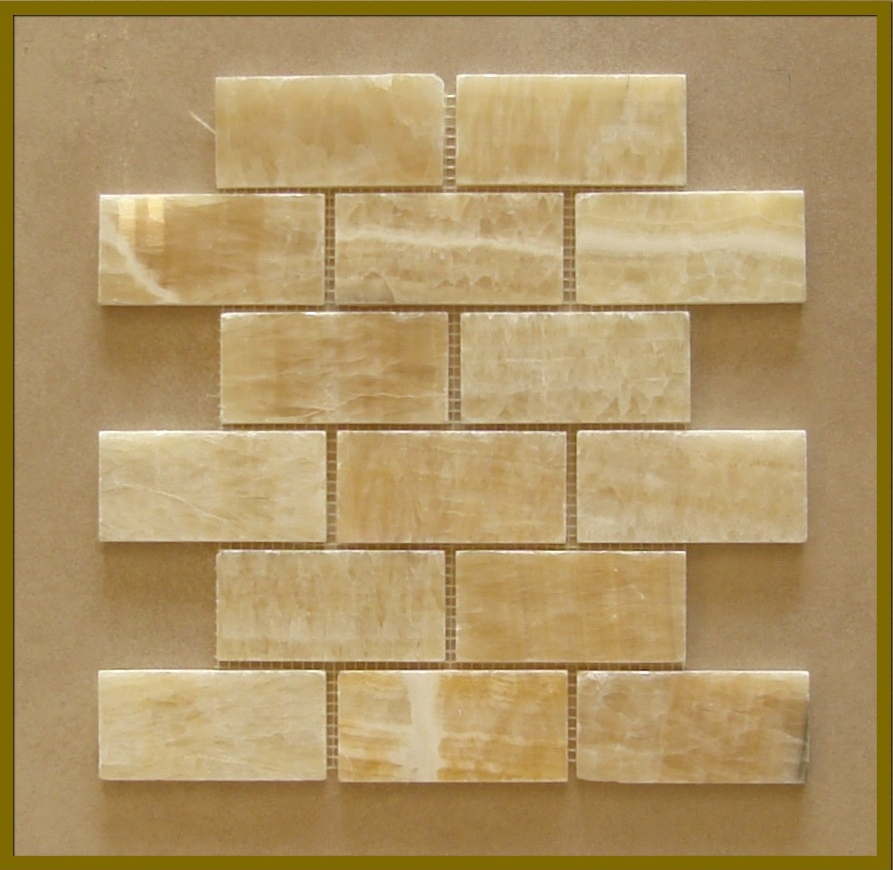 2x4 Honey Onyx Mosaic