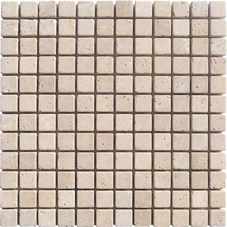 Light Travertine Mosaic 1x1