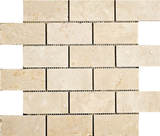 Light Travertine Mosaic 2x4