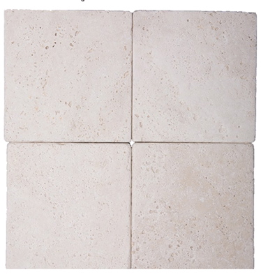 Light Tumbled Travertine 6x6