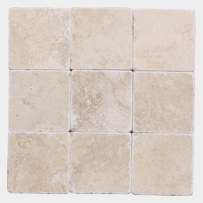Light Tumbled Travertine 4x4