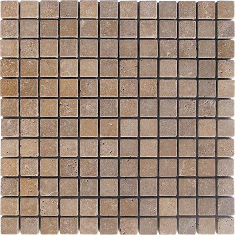 Noce Travetine Mosaic 1x1 - Click Image to Close