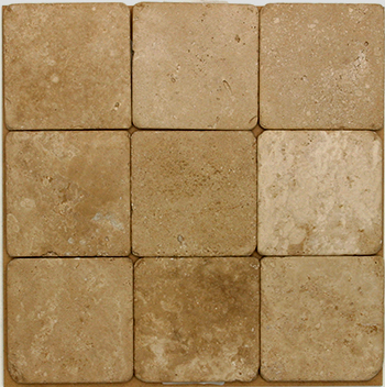 Noce Tumbled Travertine 4x4