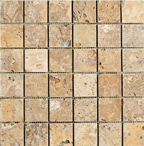Scabos Travertine Mosaic 2x2