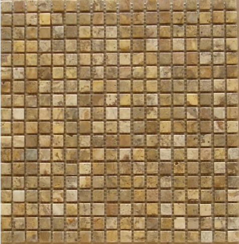 Scabos Travertine Mosaic 5/8 x5/8
