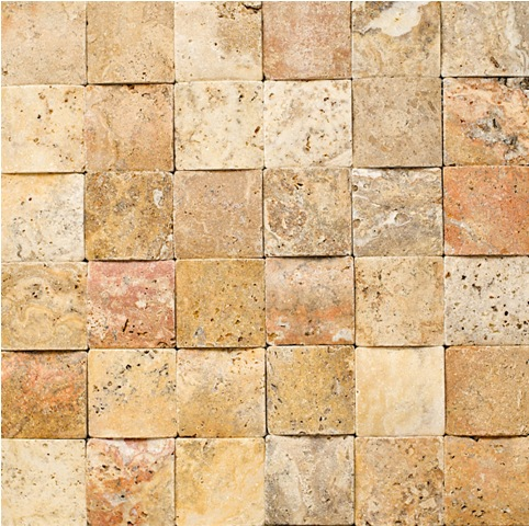 Scabos Braid Travertine Mosaic 2x2