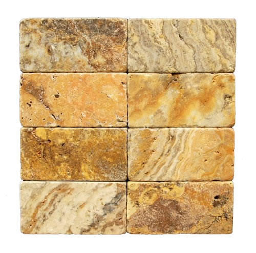 Scabos Tumbled Travertine 3x6