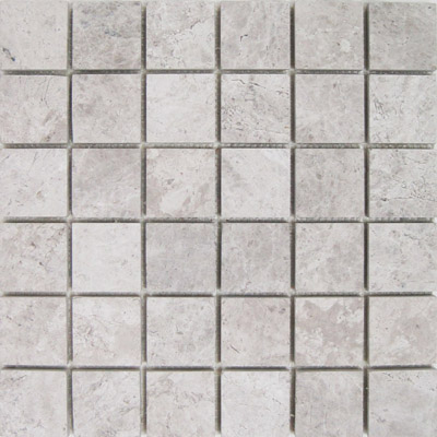 Silver Travertine Mosaic 2x2