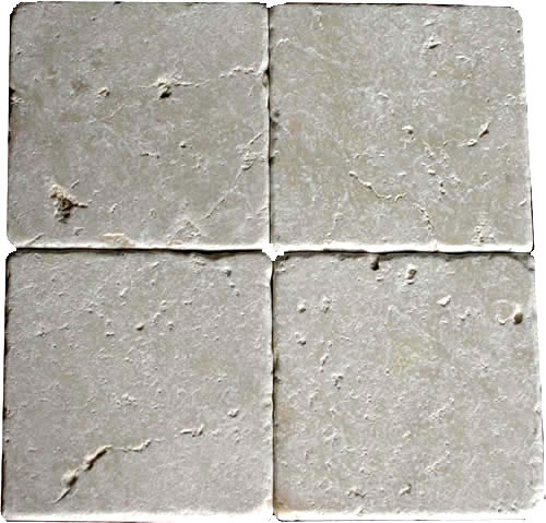 Botticino Tumbled Marble 4x4