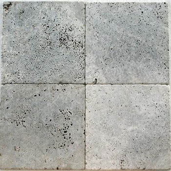 Silver Tumbled Travertine 6x6 - Click Image to Close