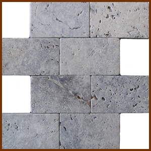 Silver Tumbled Travertine 3x6