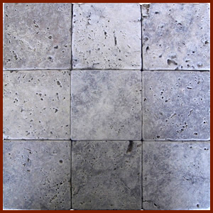 Silver Tumbled Travertine 4x4